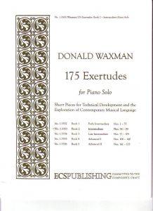 Estudios Waxman, ejercicios para piano