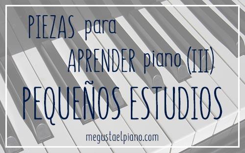 Repertorio para piano: Pequeños estudios y ejercicios para piano