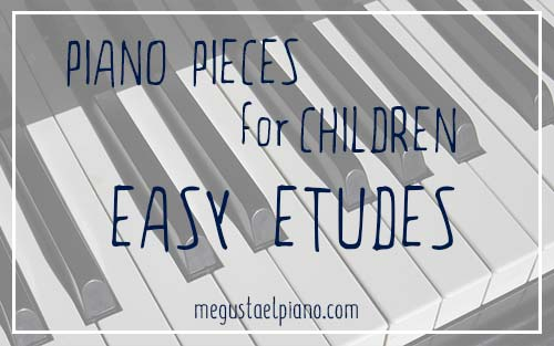Piano repertoire: easy piano etudes