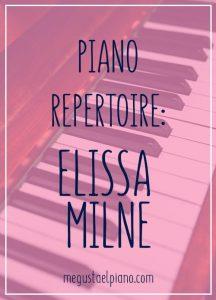 piano repertoire Elissa milne