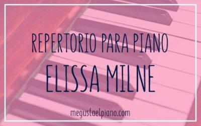 Repertorio para piano: Elissa Milne