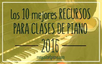 los 10 mejores recursos para clases de piano 2016