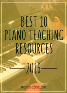 best 10 piano teaching resources 2016