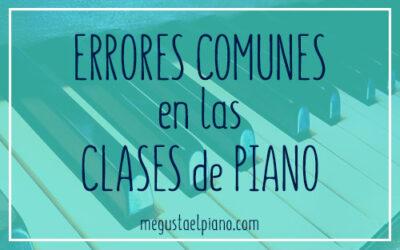 errores en las clases de `piano