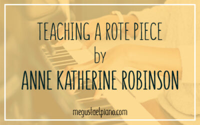 Teaching a Rote Piece